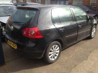 Breaking for parts 2 black colour VW M5 MK5 Golfs doors rear bumper rear tailgate