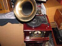 Steeplstone Nostalgia Gramophone Style Music System, Model Phono 1.