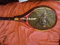 Three rackets used two tennis and one babmington. Light little use