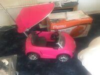 Pink Audi kids push car