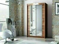 🔵💖🔴GREAT OFFER🔵💖🔴BERLIN 2&3 SLIDING DOORS WARDROBE IN 5 DIFF SIZES & IN DIFF COLORS ⛽⛽