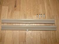2 Ikea Hoppvals Cellular blinds in beige 100cm x 155cm