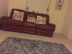 Leather Reclining Sofa's 3 Seater and 2 Seater