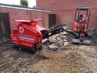 Mini digger, concrete crusher and high lift dumper hire Poole