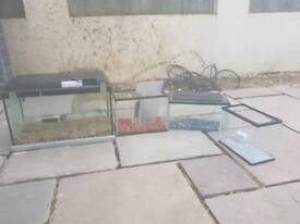 Selection of fish tanks