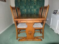 Ercol extentening table & 4 chairs