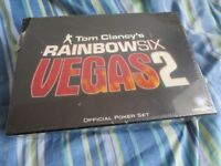 Tom Clancy's Rainbow Six Vegas 2 Official Poker Set BRAND NEW SEALED Poke Game Set