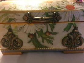 Wooden box for jewellery.