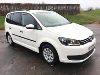 VOLKSWAGEN TOURAN 1.6 S TDI 5d 106 BHP 2 OWNERS FROM NEW, MOT JUNE 2018 (white) 2013