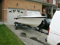 14' Boat Trailor and 35HP Johnson Motor