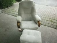 2 Swivel Chairs/Foot Stools