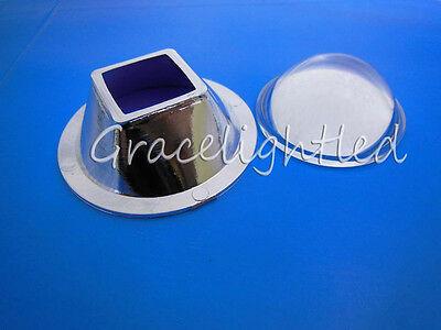 1set Optical Glass Lens Reflector For 10w High Power Led Light Chip Square Led