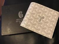 Goyard men's wallet white