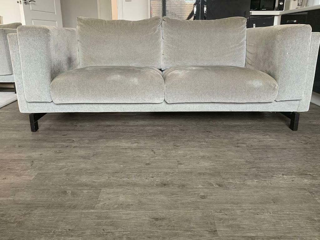 BARGAIN COLLECT NOW Grey Two 2 Three 3 Seater Sofa ...