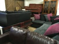 Sofas various styles including a corner suite