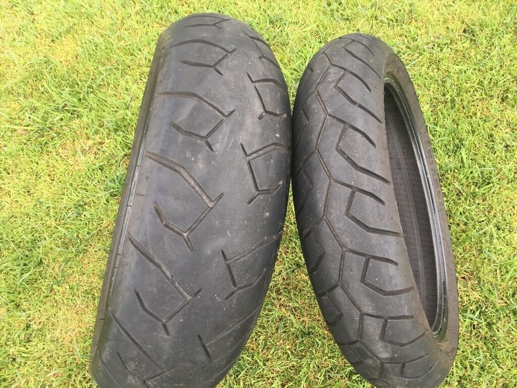 Pirelli Diablo 180 55 17 and 130 70 16 Motorbike Tyres Motorcycle