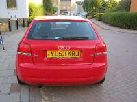 2004 audi a3 1,6, 3 door, manual petrol, 12 month mot, 96k f/s/h, hpi clear 100%