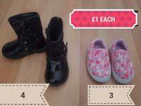 Kids shoes £1 Each