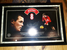 Manchester United Signed Wayne Rooney Framed Picture