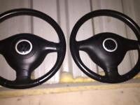 Mk4 golf gti steering wheels x2