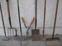 GARDEN TOOLS pre used - for sale