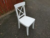 1 IKEA White Ingolf Chair FREE DELIVERY W243