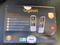 NEW IN BOX GIGASET C430 A DUO CORDLESS TWIN SET WITH ANSWERPHONE