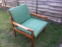 Solid teak armchair - NOW TAKEN - Thanks for the interest