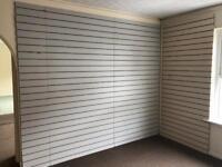 Used Shop Slatwall & Metal Hooks