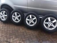 215/65/16 4 tyres with alloys