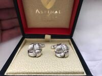 Stunning Aspinal of London sterling silver knot cufflinks - RRP £125