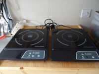 2 induction hobs