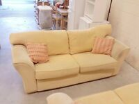 Cream 3 seater sofa 220cm