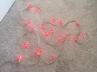 Pink fairy lights