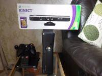 X Box 360.Console and Kinect Sensor