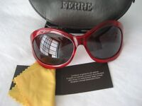 Ferre Sunglasses - NEW with Tags in Original Case with Glass Cloth