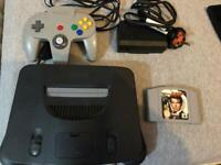 Nintendo n64 console with Goldeneye - cleaned and full working order. Retro sega