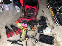 Various scuba diving equipment