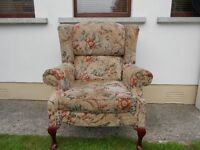 A Large Comfy Wingback Armchair