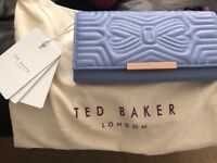 02dfaf059b6bf Leather Ted Baker quilted bow matinee purse bag