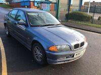 bmw 318i 2000 w reg saloon petrol e46 123k service history 12 months mot alloy wheels