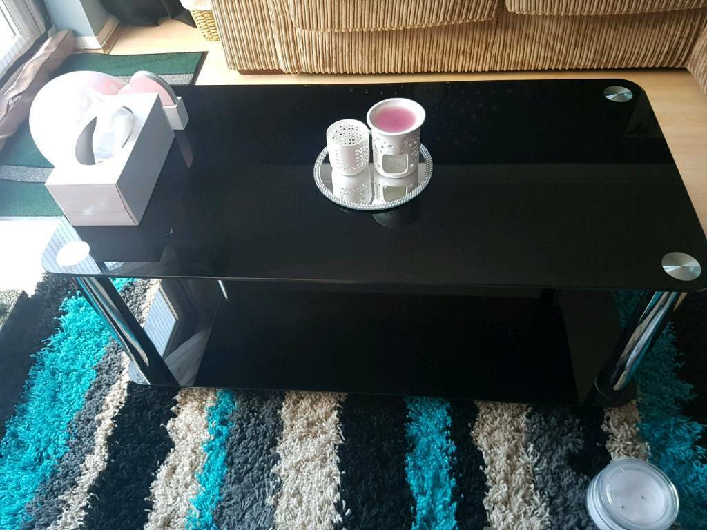 Argos Home Matrix Black Glass Coffee Table In St Mellons Cardiff Gumtree