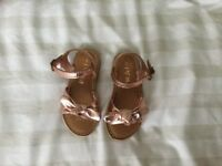 Girls Next Rose Gold sandals Size 7