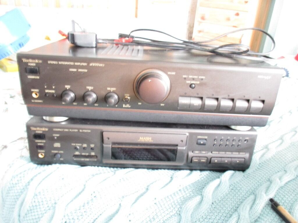 Technics Compact Disk Player and Intergrated Amplifierin Narberth, PembrokeshireGumtree - Technics Compact Disk Player SL PS670A Technics Stereo Integrated Amplifier A600 mk3 with remote control. Not been used for a while but should be in good working order. One power lead missing