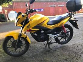 2016 Honda cb125f new model 2366 miles very clean £1599 finance is available .RACK TOP BOX ETC