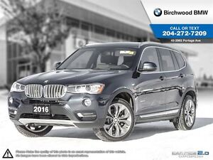 2016 BMW X3 xDrive28i Premium Package Enhanced Connected Drive