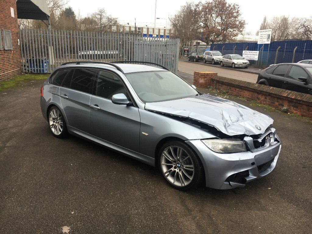 2009 59 bmw 318i m sport e91 lci touring blue damaged salvage repairable in walthamstow. Black Bedroom Furniture Sets. Home Design Ideas