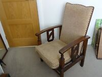reclining chair - fifties period cottage style re-upholstered