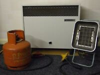 Gas Convector & Gas Plaque Heaters & 4.7kg Propane Gas Cylinder