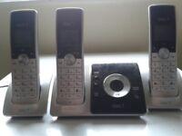 idect answer machine 3 wireless hand sets